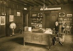 National Geographic Magazine editor, Gilbert H. Grosvenor at work at the National Geographic Headquarters in Washington D.C., 1914. PHOTOGRAPH BY LEET BROTHERS, NATIONAL GEOGRAPHIC CREATIVE