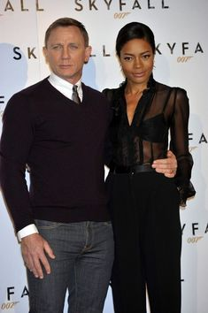 "Daniel Craig and Naomie Harris at the ""Skyfall"" Photocall"
