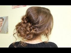 Средний пучок. Прическа на волос средней длины. - YouTube