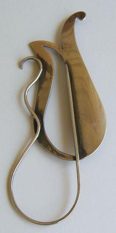 Paul Lobel Modernist Jewelry Sterling Abstract Brooch