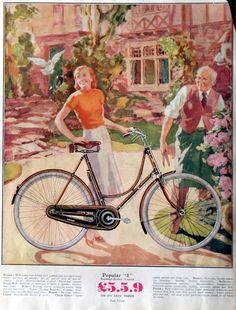"""Реклама велосипедов британской компании """"Геркулес"""", основанной в 1910 году."""