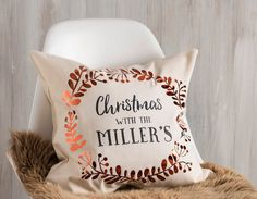 Add a dash of copper to your home this Christmas with this stunning personalised copper wreath cushion that looks fabulous in every family home.