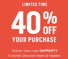 Gap Canada Promo Code Offers: Save 40% Off Your Purchase http://www.lavahotdeals.com/ca/cheap/gap-canada-promo-code-offers-save-40-purchase/115453