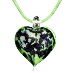 Pugster Murano Glass Green Heart With Blue Pendant Necklace Pugster. $33.59. Excellent for all ages and any occasion. Perfect for Women, girls. Gorgeous for gifts. Murano glass pendant. Made in China