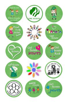 Girl Scout bottle cap image