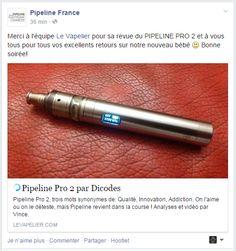 Reprise de notre revue du Pipeline PRO 2 par Pipeline France - http://www.levapelier.com/archives/7303