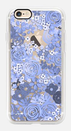 Casetify iPhone 7 Case and Other iPhone Covers - Floral blue by Marta Olga Klara | #Casetify
