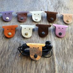 leather cord wrap cat cord holder tech organizer earbud holder as hostess gifts leather cord organizer cat lover gift earphone holder gift Christmas Stocking Stuffers, Christmas Stockings, Leather Jewelry, Leather Cord, Diy Dog Run, Cord Holder, Headphone Holder, Dog Organization, Cordon En Cuir