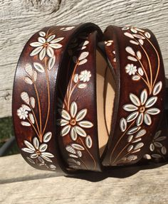 Custom Leather Belt, Tooled leather belt, Hand tooled floral pattern, Handmade Personalized Gift, Women's leather belt, Leather belt. by Rogersleathercraft on Etsy https://www.etsy.com/listing/504634698/custom-leather-belt-tooled-leather-belt