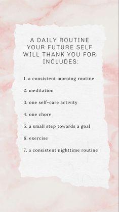 Self Care Activities, Self Care Routine, Face Routine, Self Improvement Tips, Best Self, Self Development, Self Help, Happy Life, Self Love