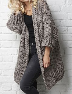 The Big Chill - cosy, super chunky cardi from Simply Crochet. Pattern on…