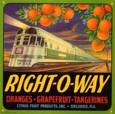 Cucamonga Flyer Train #1 Orange Citrus Fruit Crate Label Art Print
