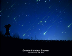 Geminid Meteor Shower 2017 Read More: http://www.natskies.com/2017/12/13/geminid-meteor-shower-2017