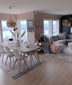 ideas for DIY kitchen apartment decor sala de jantar - Wohnkultur Wohnung - Living Room Grey, Home Living Room, Apartment Living, Interior Design Living Room, Living Room Designs, Apartment Kitchen, Ikea Interior, Blush Pink Living Room, Nordic Interior