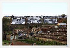 JR - 28 Millimètres, Women Are Heroes - In Kibera Slum, train passage 1