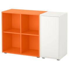 IKEA   EKET Storage Combination With Feet White, Orange