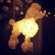 There should be more light up flying poodles in the world  (at Maison Moschino)