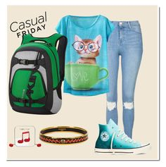 """""""casual #45"""" by bubbleness-984 on Polyvore featuring Topshop, Dakine, Converse and Happy Plugs"""