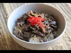 Gyudon Recipe (Beef Bowl) – Japanese Cooking 101