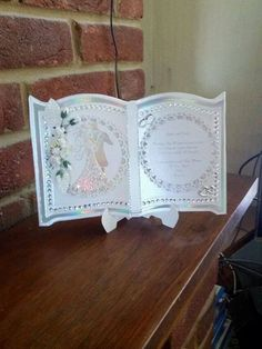 Tattered Lace book type card Wedding Day Cards, Wedding Anniversary Cards, 123 Cards, Crafters Companion Cards, Heartfelt Creations Cards, Tattered Lace Cards, Hand Made Greeting Cards, Card Book, Shaped Cards