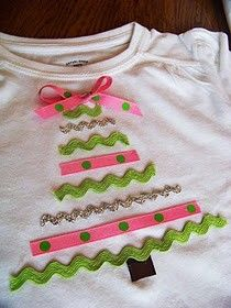 Cute and easy idea for christmas shirts for the girls!