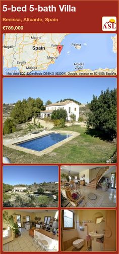 Villa for Sale in Benissa, Alicante, Spain with 5 bedrooms, 5 bathrooms - A Spanish Life Guest Toilet, American Kitchen, Alicante Spain, Heat Pump, Large Bedroom, Heating And Cooling, Seville, Malaga, Stairways