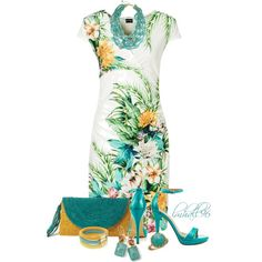 """""""Tropical Print Dress"""" by lmhall96 on Polyvore"""