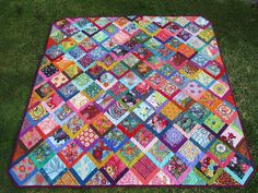 JulieLou Nine Patch, Picnic Blanket, Outdoor Blanket, Jacob's Ladder, How To Finish A Quilt, Shirt Quilt, Quilt Blocks, Patches, It Is Finished