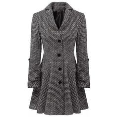 Stylish Lapel Neck Long Sleeve Single Breasted Checked Slimming Women... ($38) ❤ liked on Polyvore featuring outerwear, coats, as the picture, checkered coat, slim fit coat, slim coat, checked coat and single breasted coat