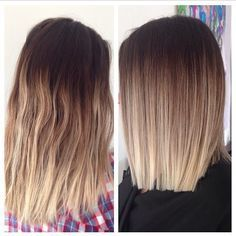 shoulder length ombre hair - Google Search