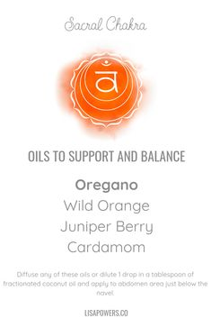 Essential Oils to Balance Your Sacral Chakra 6 Chakra, Sacral Chakra Healing, Chakra Meditation, Meditation Music, Mindfulness Meditation, Essential Oils For Chakras, Essential Oils For Headaches, Doterra Essential Oils, Essential Oil Diffuser