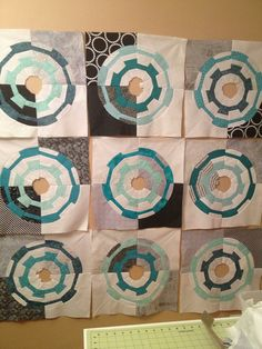 Fantastically fun (and bicycle-inspired) Dresden quilt blocks by Lisa Cox. Great work on the background colors too!