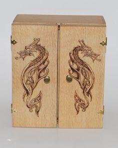 Celtic Dragon Pyrography by Itsmerick