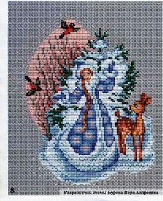 Gallery.ru / Photo # 1 - Snow Maiden, winter scheme on 1 sheet - Ka