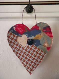 Primitive Heart of Quilt by frugallyfoundforyou for $5.95