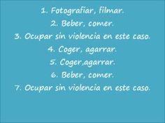 """Lección sobre vocabulario """"El verbo tomar"""" spanishfspain"""