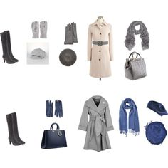 Blue and Grey Fall by create1 on Polyvore featuring J.Crew, Paule Ka, Aquatalia by Marvin K., Givenchy, Effy Collection, PASHMINA ART, Ralph Lauren, Mulberry, Chan Luu and Sonia