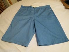 Volcom corpo class 38 walk casual shorts surf skate Men's RARE blue chino NEW