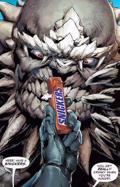 """Batman Defeats """"Doomsday"""" In DC Comics Snickers Ad"""