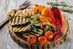 Leckeres Gemüse Grillen auf dem Kontaktgrill