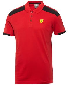 Upgrade your casual look to this sleek Puma polo, featuring a Ferrari logo and comfortable fabric that helps keep you dry. Camisa Polo, Polo Shirt Style, Polo Shirts, Men Closet, Mens Boots Fashion, Puma Mens, Adidas, Men's Wardrobe, Nike Men