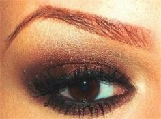 Brown / Gold Eye Makeup for Fall 2013  Mattify! Cosmetic's Woodland Fairy