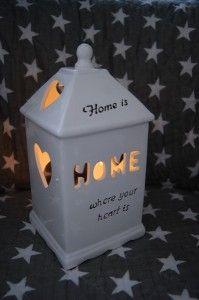 """Lampion ceramiczny biały """"Home"""""""