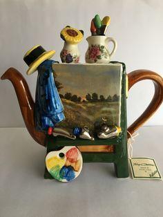 Teapots Unique, V Cute, Tea Pot Set, Teapots And Cups, Cool Mugs, Chocolate Pots, Clay Art, Ceramic Pottery, Tea Time