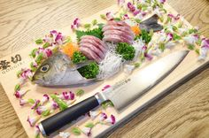 """We cook fish today! Japanese food """"sashimi"""",this is a very fresh dish Professional Chef, Sashimi, Japanese Food, Good Food, Dishes, Cooking, Ethnic Recipes, Kitchen, Cuisine"""