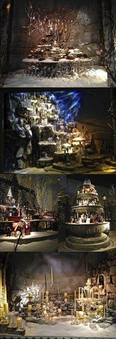 Fortnum and Mason Navidad Luxury Bar, English Christmas, Fortnum And Mason, Bar Interior, Winter Wonderland, Around The Worlds, Christmas Windows, Ea, Dressing