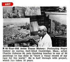 Charles Osburne, 84 yr old Artist Traces Black History - Jet Magazine, July 28, 1955 by vieilles_annonces, via Flickr