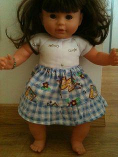 Jupe froncée pour poupée de 36cm