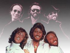 The Bee Gees. Robin, Barry, and Maurice Gibb