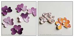 flowers made from heart punches
